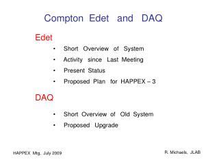 Compton  Edet   and   DAQ