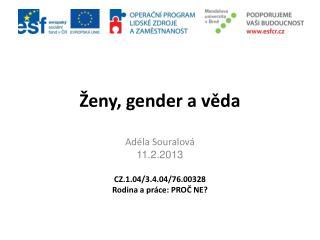 Ženy, gender a věda