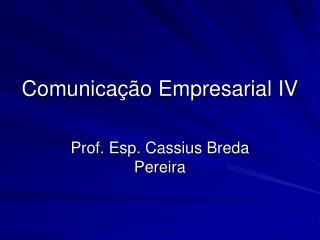Comunicação Empresarial IV