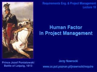 Human Factor  in Project Management