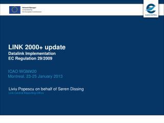 LINK 2000+ update Datalink Implementation EC Regulation 29/2009