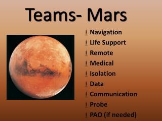 Teams- Mars