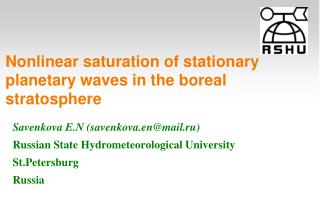 Nonlinear saturation of stationary planetary waves in the boreal stratosphere