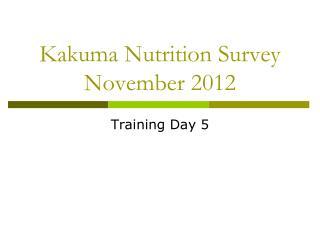 Kakuma Nutrition Survey November 2012