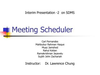 Meeting Scheduler