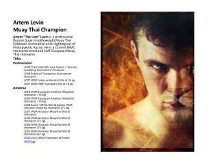 Artem Levin Muay Thai Champion