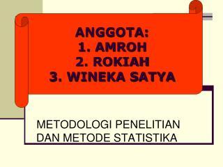METODOLOGI PENELITIAN DAN METODE STATISTIKA