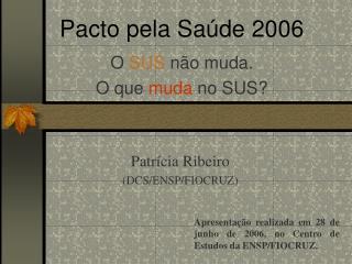 Pacto pela Saúde 2006