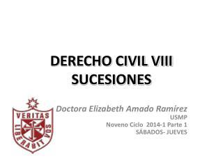 DERECHO CIVIL VIII SUCESIONES