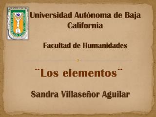 Universidad Autónoma de Baja California Facultad de Humanidades