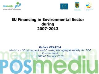 EU Financing in Environmental Sector  during 2007-2013