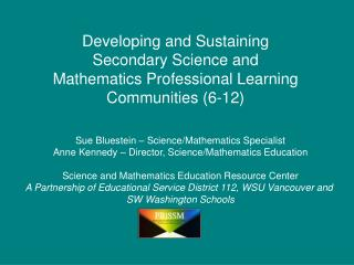 Sue Bluestein – Science/Mathematics Specialist