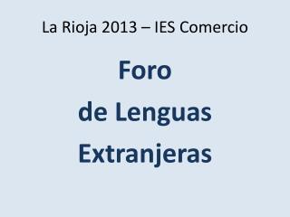 La Rioja 2013 – IES Comercio