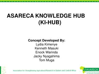 ASARECA KNOWLEDGE HUB (KI-HUB)