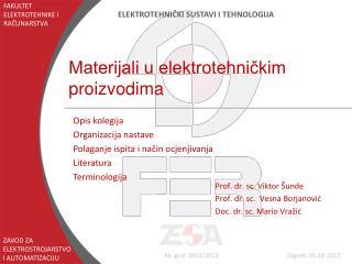 Materijali u elektrotehničkim proizvodima