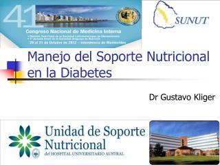 Manejo del Soporte Nutricional en la Diabetes