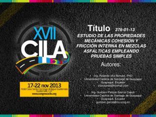 Autores : Ing. Rolando Vila Roman�,  PhD Universidad Cat�lica de Santiago de Guayaquil
