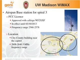 Location City-County building near the capitol 2608-2640.5 MHz frequency range