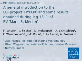 ....MPI internal seminar 26.05.2010