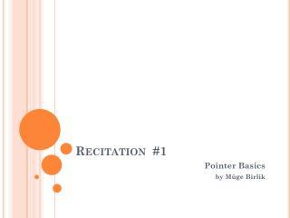 Recitation  #1