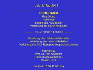 Leibniz-Tag 2012