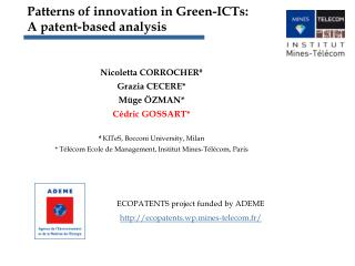 Patterns of innovation in Green-ICTs:  A patent-based analysis