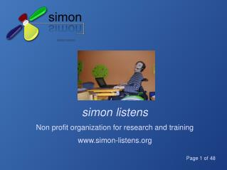 simon listens Non profit organization for research and training simon-listens