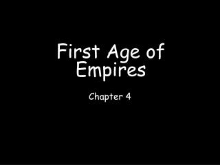 First Age of Empires
