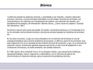 Biónica