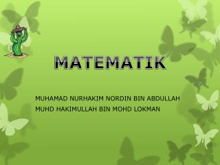 MUHAMAD NURHAKIM NORDIN BIN ABDULLAH MUHD HAKIMULLAH BIN MOHD LOKMAN