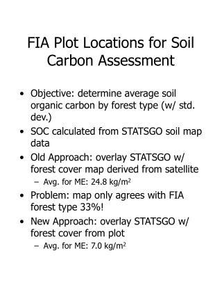 FIA Plot Locations for Soil Carbon Assessment