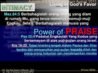 The  Year New Season of Blessing   2013