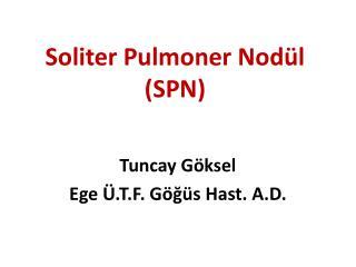 Soliter Pulmoner  Nodül (SPN)