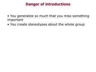 Danger of introductions