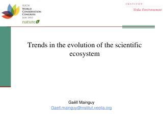 Trends in the evolution of the scientific ecosystem