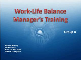 Work-Life Balance Manager's Training