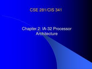 CSE 281