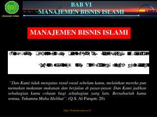 MANAJEMEN BISNIS ISLAMI