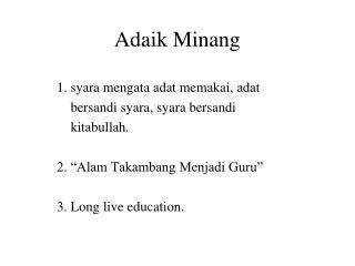 Adaik Minang