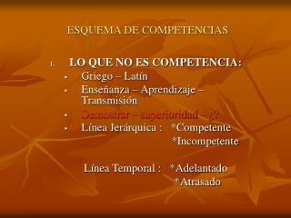 ESQUEMA DE COMPETENCIAS