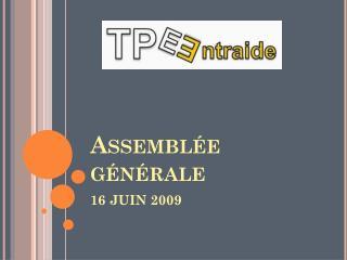 Assembl�e g�n�rale