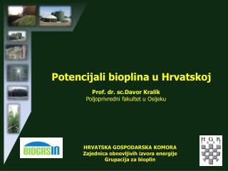 Potencijali bioplina u Hrvatskoj