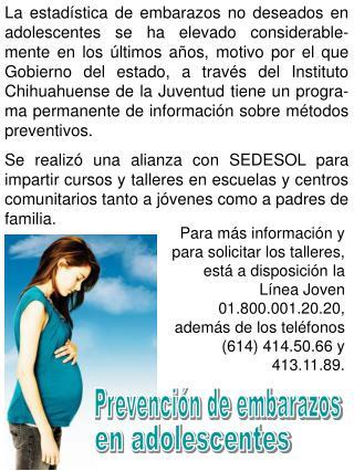 Prevención de embarazos