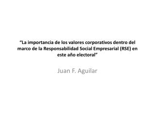 Juan F. Aguilar