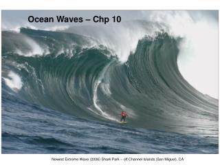 Ocean Waves – Chp 10