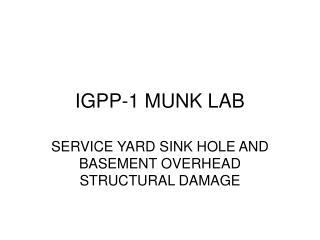 IGPP-1 MUNK LAB