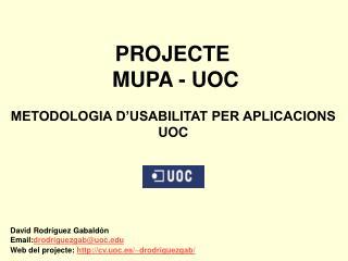 PROJECTE  MUPA - UOC