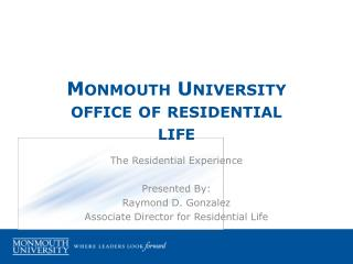 Monmouth University office of residential life
