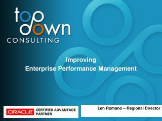 Improving  Enterprise Performance Management