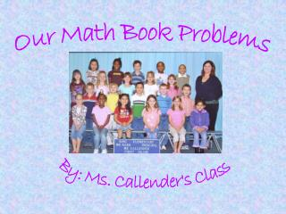 Our Math Book Problems